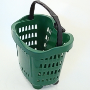 Roll along trolley basket